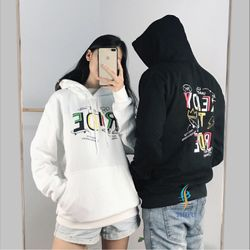 Áo hoodie nam nữ in chữ RIDE