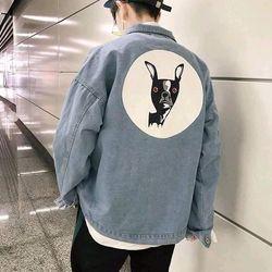 Áo khoác jean nam in hình form rộng thời trang chuyên sỉ jean 2KJean giá sỉ