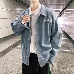 Áo khoác jean nam in hình form rộng thời trang chuyên sỉ jean 2KJean