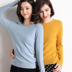 Áo len dệt kim dài tay nhiều màu giá sỉ
