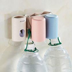 Dụng cụ nhả kem lúa mạch Ecoco giá treo bàn chải kèm 2 cốc giá sỉ, giá bán buôn
