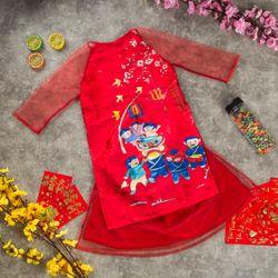 Xưởng áo dài em bé Gấmren giá sỉ, giá bán buôn