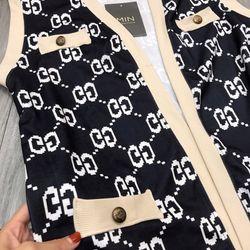 set bộ đồ nữ đẹp chất cá tính dễ thương giá rẻ áo gile quần sooc Gucc BN 27712 Kèm Ảnh Thật giá sỉ, giá bán buôn