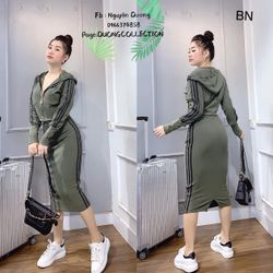 set bộ đồ nữ đẹp chất cá tính dễ thương giá rẻ áo khóa mũ chân váy len 3 lá BN 67988 Kèm Ảnh Thật giá sỉ, giá bán buôn
