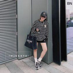 áo nỉ nữ đẹp kiểu hàn quốc dễ thương giá sỉ dài tay NY BN 74976 Kèm Ảnh Thật