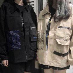 áo khoác kaki túi hôp phối dây kéo giá sỉ
