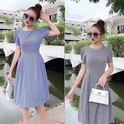 Đầm Xòe Caro SM Trẻ Trung Hàng Chất Giá Tốt - GR0009 giá sỉ