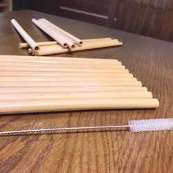 Bộ 6 ống hút tre Tropical Bamboo Original Khắc Laser Tên hoặc Brand giá sỉ