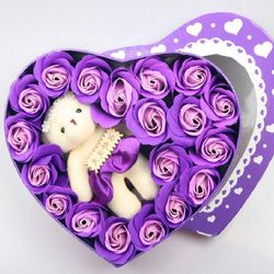 Qùa tặng 2010 Hộp hoa sáp thơm kèm gấu HOADEP