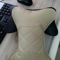 Bộ gồm 02 gối tựa đầu dành cho ghế ô tô xe hơi xe tải bằng sợi bông bọc giả da - C066-GXHD giá sỉ