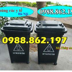 thùng rác 60L 4 bánh xe thùng rác 60L giá rẻ thùng rác 60L công cộng giá sỉ