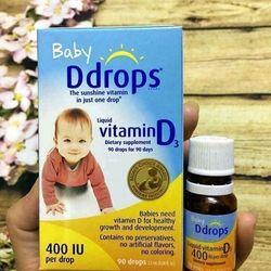 Vitamin D - BABY D-DROPS VITAMIN D3 - VITAMIN D CHO TRE - VITAMIN - HAPPY KISS
