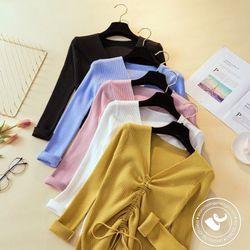 áo len gân nữ rút dây giá sỉ, giá bán buôn