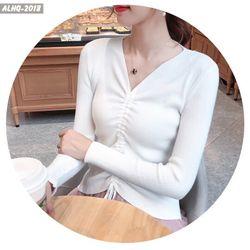 áo len gân nữ rút dây giá sỉ