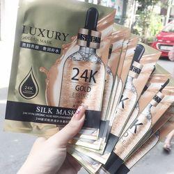 00192 Hộp 10 Miếng Mặt Nạ Lụa 24k Goldzan Silk Mask