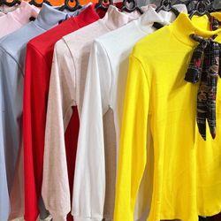 áo len gân cổ trụ thắt nơ giá sỉ, giá bán buôn