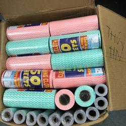 Cuộn giấy lau đa năng loại 50 tờ nhiều màu giá sỉ
