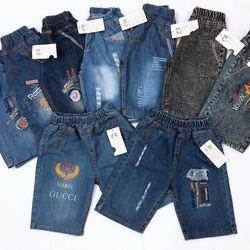 Quần jeans bé trai lửng size đại giá sỉ
