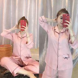 Bộ Pijama Satin lụa cao cấp Sana giá sỉ
