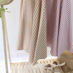 Đầm caro vàng hồng giá sỉ, giá bán buôn
