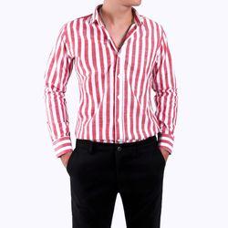 Áo somi dài tay sọc chất vải cotton mịn giá 120k-130k