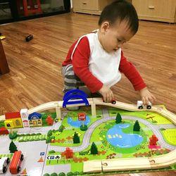 Đồ chơi lắp ráp mô hình giao thông thành phố bằng gỗ giá sỉ, giá bán buôn