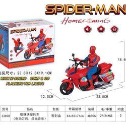 Đồ chơi người nhện đi xe máy có nhạc giá sỉ