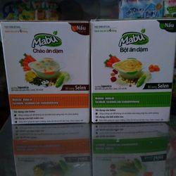 bột ăn dặm Mabu 400g 3 loại bột mịn cháo gạo vỡ nguyên hạt giá sỉ