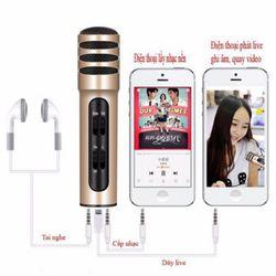 Micro đa năng C7 hát karaoke livestream trên điện thoại
