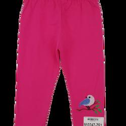 910247-ZE1- Quần leg bé gái cotton dài in chim hồng hiệu HBkids size bé 1-10ri10HT05QTNU110ZE1t7b11