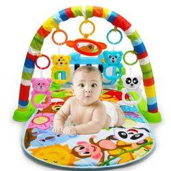Thảm nhạc cao cấp cho bé nằm chơi có nhạc và có đồ chơi lục lạc