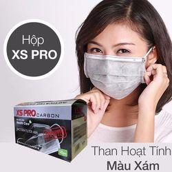 Khẩu trang y tế XS Pro than hoạt tính - xám Hàng Công Ty giá sỉ