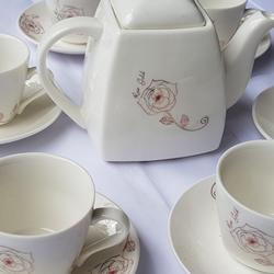 Bộ ấm chén pha trà làm quà tặng cao cấp trang nhã Loại Tròn Hàn Quốc - Huy Tưởng giá sỉ