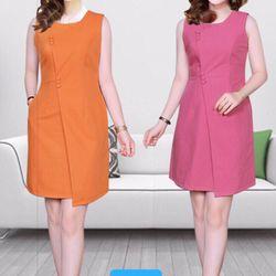 Đầm Công Sở Vải cotton lạnh 10 màu giá sỉ