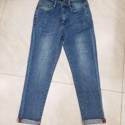 Quần jean nữ 9 tấc wax xước thời trang Mã QJN001 giá sỉ
