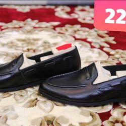 Giày lười nam da màu đen đơn giản không lỗi mốt giá sỉ