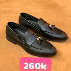 Giày nam da bò nơ chuông mới năm 2019 giá sỉ