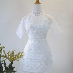 Đầm trắng phối ren giá sỉ