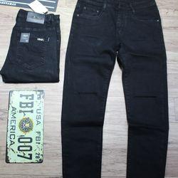 quần jean nam skinny - ĐEN rách 1 đường - size 28-32 giá sỉ