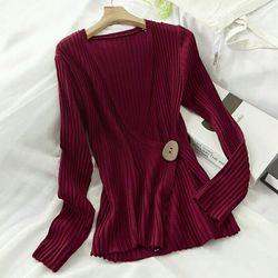Áo Thun len Sới Dọc Cổ Khoét Nút giá sỉ, giá bán buôn