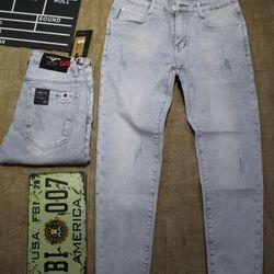 quần nam jean skinny - BẠC XANH - size 28-32 giá sỉ