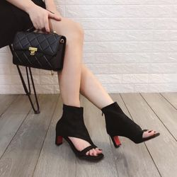 Giày bốt hở gót cao cấp giá sỉ