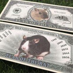Tiền GIẤY Chuột 1 Triệu USD MỸ