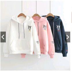 áo khoác nỉ hoodie thêu 3màu giá sỉ