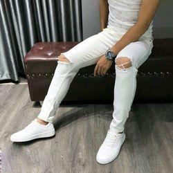 Quần Jeans Nam Trắng có size lớn giá sỉ