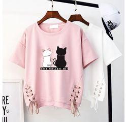 Áo in hình mèo giá sỉ