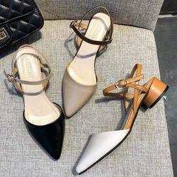 Giày sandal gót vuông tròn giá sỉ