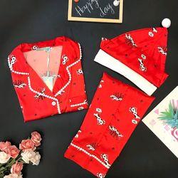 Đồ bộ pijama  tdqd  Nữ Lụa  IN  3D CAO CẤP