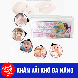 khăn vải khô Hiền Trang baby gói 200 tờ giá sỉ