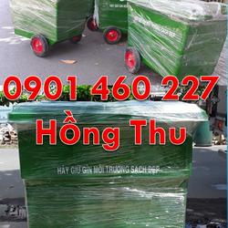 Xe đẩy rác 660 lít trong công ty xe thu gom rác 1000L màu xanh lá trong trường họcthùng rác lớn 1000 lít màu trắng 4 bánh xe bằng nhựa HDPE giá sỉ